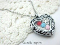 Catholic Floating Lockets and Charms