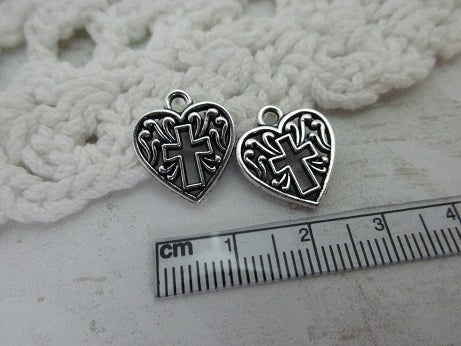 Cross Heart Charm