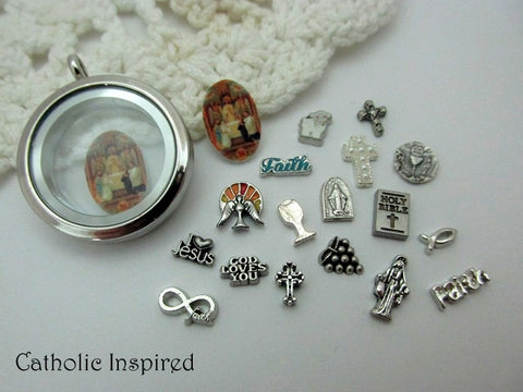 Floating Locket Sacrament Charms
