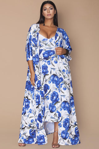 April Dress- Blue Cornflower
