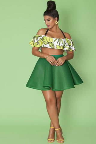 Blake Skirt- True Green