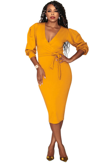 Candace Dress - Goldmine Yellow