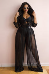 Chantel Jumpsuit/Bikini Set - Black