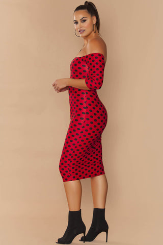 Daphne Dress - Passion Polka