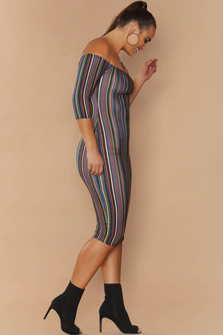Daphne Dress - Trippy Stripes