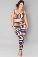 Denise Top- Pumpkin Stripes