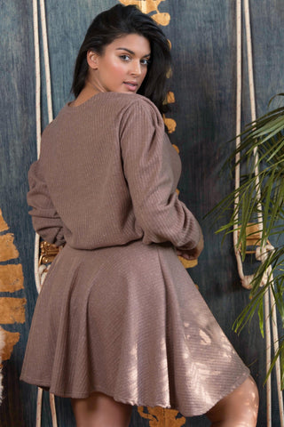 Dominique Skirt - Taupe