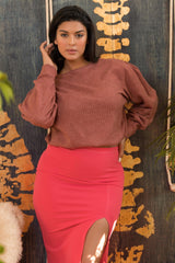 Dominique Sweater - Blush