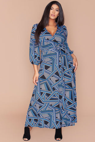 Donna Dress- Blue