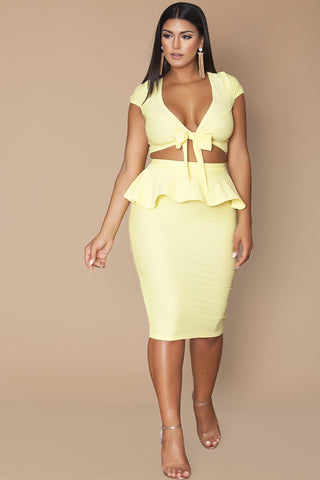 Gia Skirt- Butter Yellow