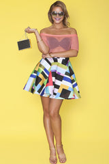 Grace Skirt- Colorblock