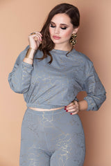 Holly Top - Gray Gold