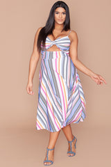 Teedra Dress - Racecar Stripes