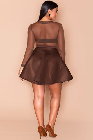Blake Skirt- Chocolate