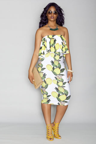 Jade Dress- White Lemonade