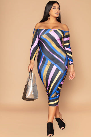 Jas Dress - Bold Stripes