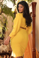 Kamiel Slit Skirt - Bold Yellow
