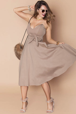 Kelsey Dress- Stone