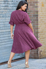Kendra Knit Dress - Retro Rouge