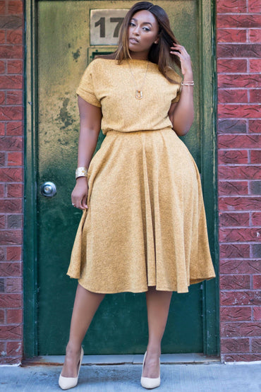 Kendra Knit Dress - Spicy Mustard