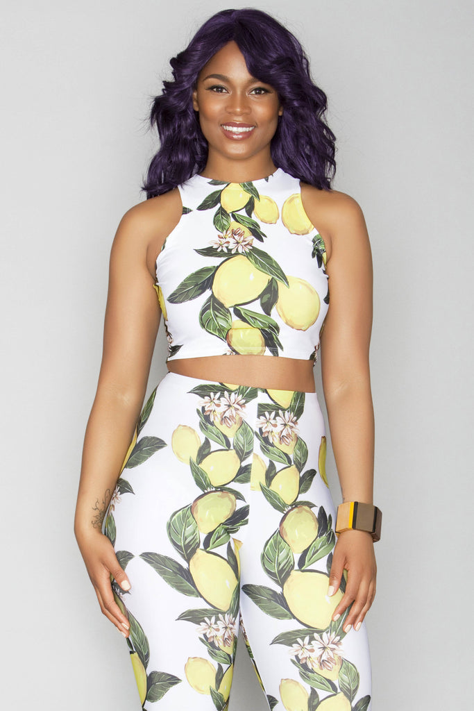 Kiss Crop Top - Lemons