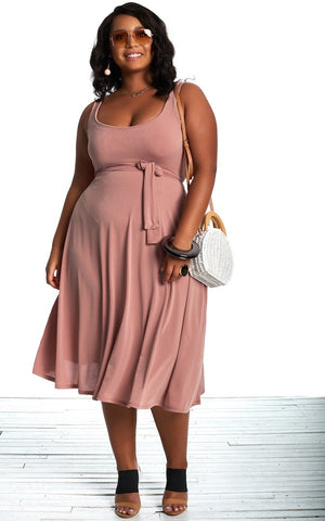 Leana Dress - Dusty Rose