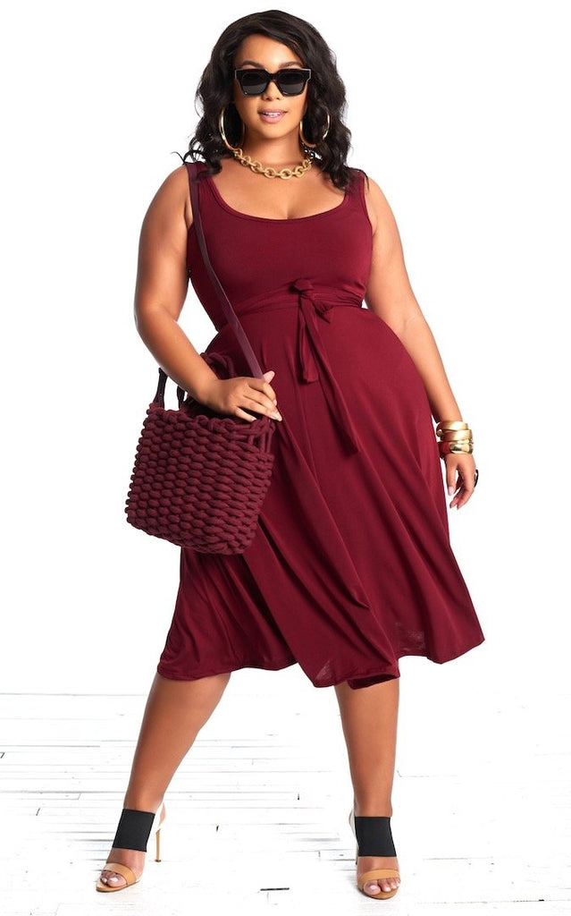 Leana Dress - Rosewood Red