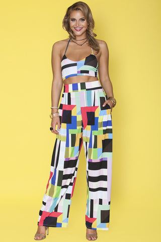 Lillian Pants- Colorblock