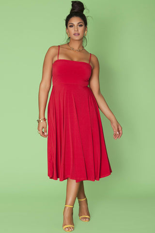 Lottie Dress- Red