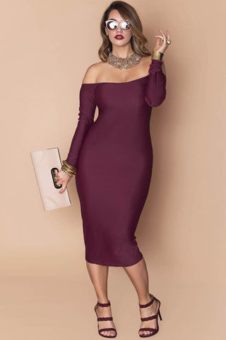 Lou Dress- Maroon