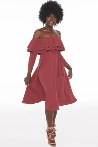 Maisel Dress - Coral Blush