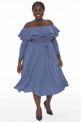 Maisel Dress - Dusty Blue
