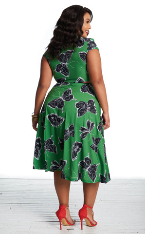 Mariana Skirt - Emerald Butterfly
