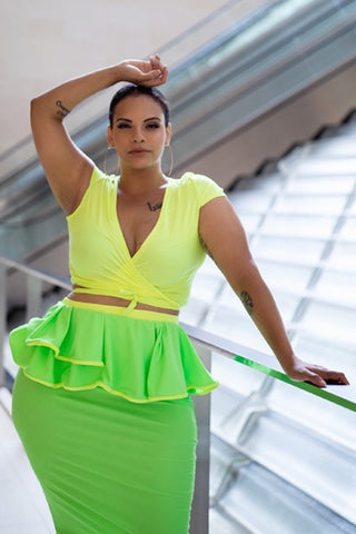 Maya Top - Neon Yellow