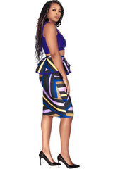 Megan Skirt - Bold Stripes