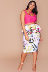 Megan Skirt - Pink Tribe