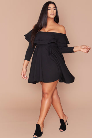 Michelina Dress - Jet Black