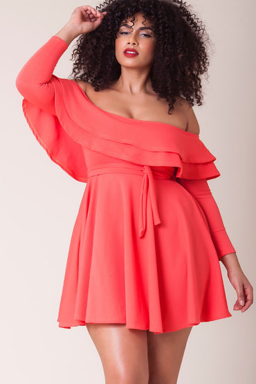 Michelina Dress - Coral bae