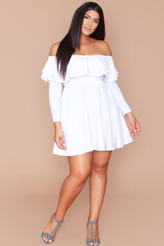Michelina Dress - Bright White