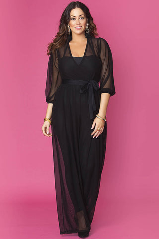 Minnie Jumpsuit- Sheer Black