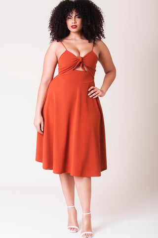 Miranda Dress - Deep Copper
