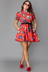 Miriam Scuba Dress- Lovely