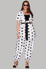 Mumbai Pants - White Polka
