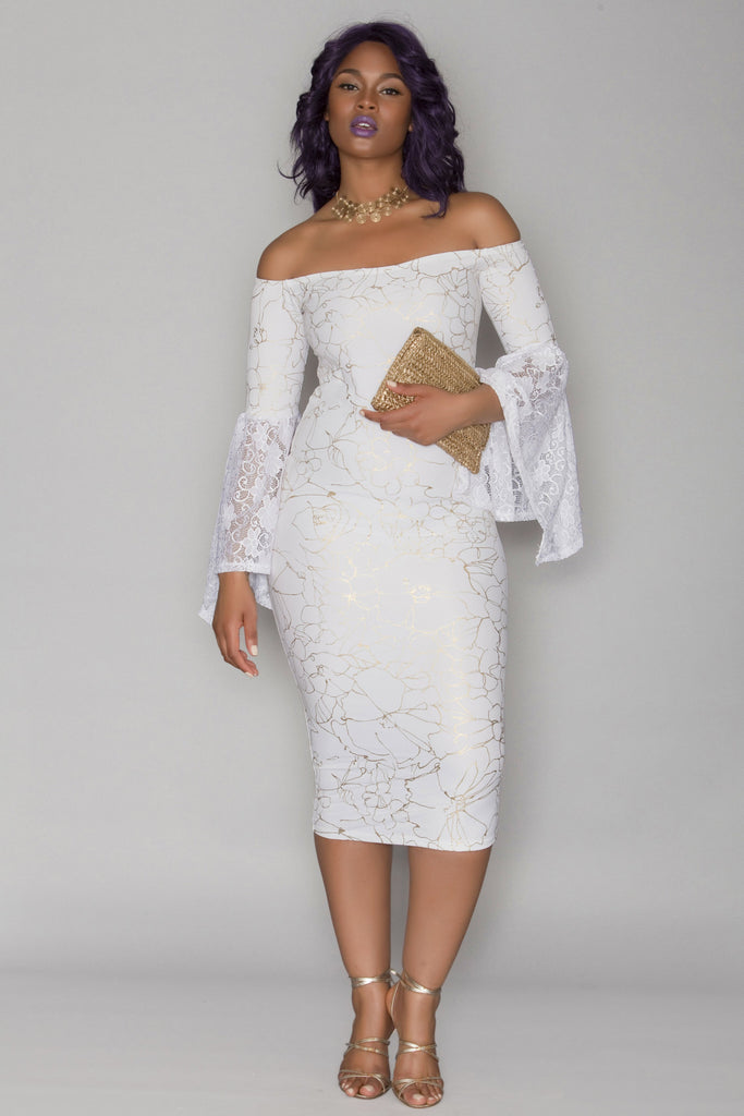 N'Kechi Dress- White