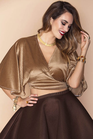 Nakia Top- Gold Copper