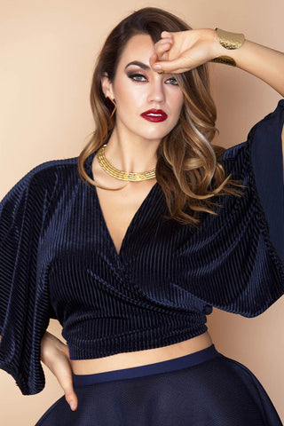 Nakia Top- Navy