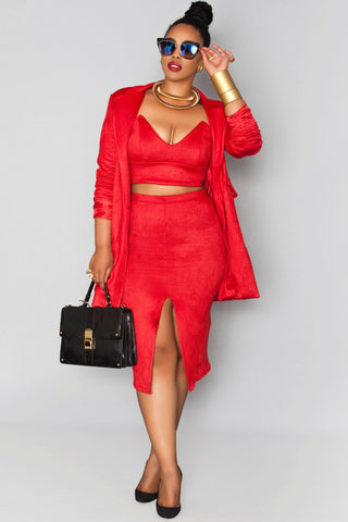 Nefertiti Skirt- Rouge Red