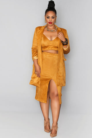Nefertiti Skirt- Spicy Mustard