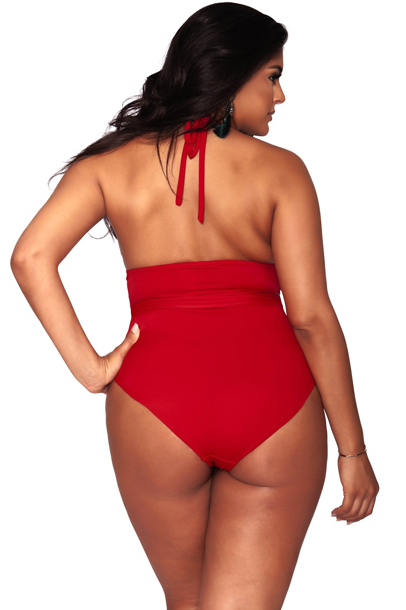 Paris Bikini Bottom- Full Coverage - Ruby