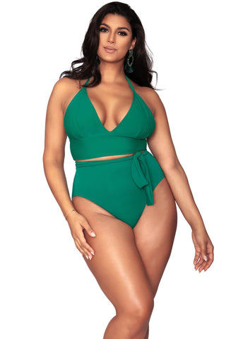 Paris Triangle Bikini Top - Emerald